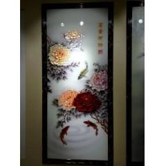 拉丝镜面黑钛金玫瑰金镂空屏风隔断卧室客厅玄关